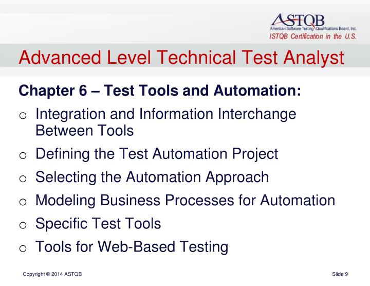 Advanced Level Technical Test Analyst