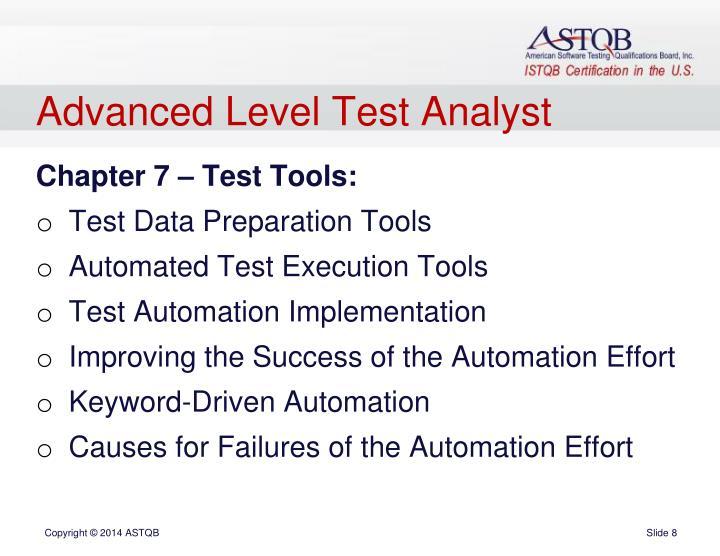 Advanced Level Test Analyst