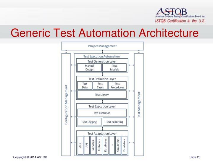 Generic Test Automation Architecture