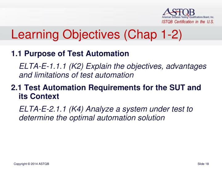 Learning Objectives (Chap 1-2)