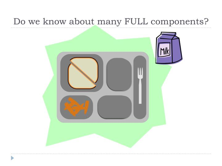 Do we know about many FULL components?