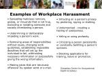examples of workplace harassment