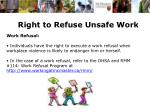 right to refuse unsafe work