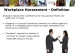 workplace harassment definition