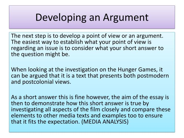 Developing an Argument