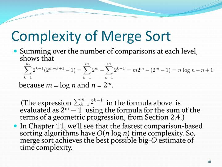 Complexity of Merge Sort