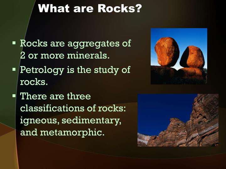 What are rocks
