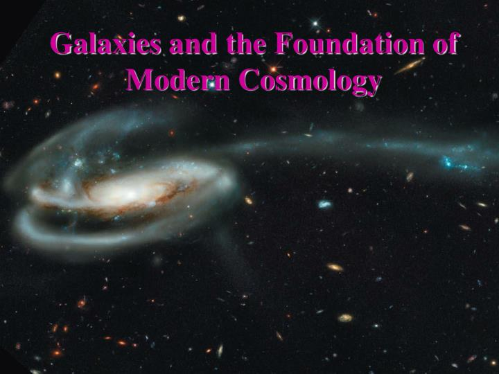 galaxies and the foundation of modern cosmology n.