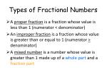 types of fractional numbers