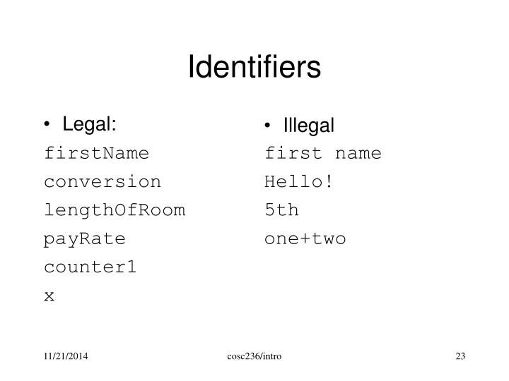 Legal: