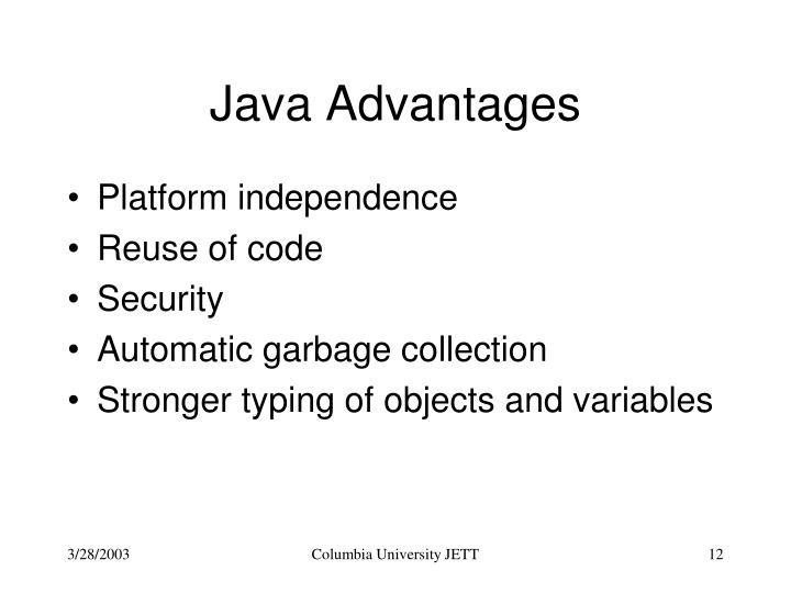 Java Advantages