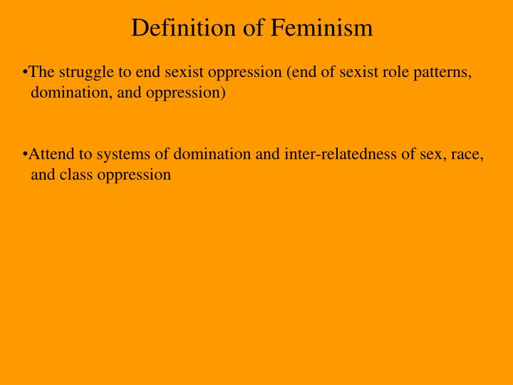 Definition of Feminism