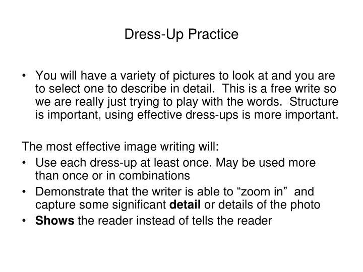 Dress-Up Practice