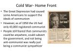 cold war home front