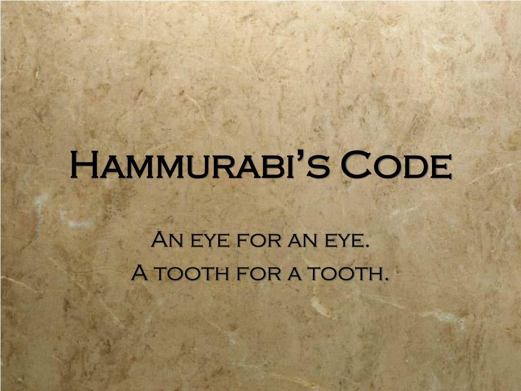 Image result for eye for an eye hammurabi