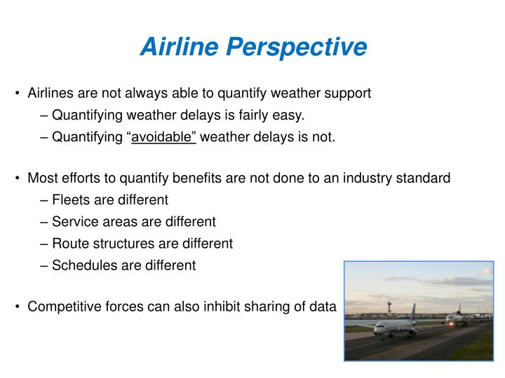Airline Perspective