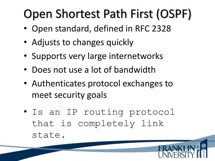 Open Shortest Path First (OSPF)