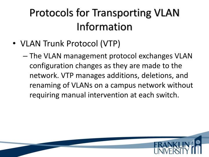Protocols for Transporting VLAN Information
