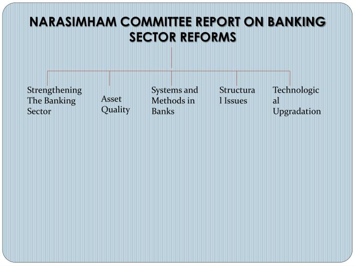 NARASIMHAM COMMITTEE REPORT ON BANKING SECTOR REFORMS