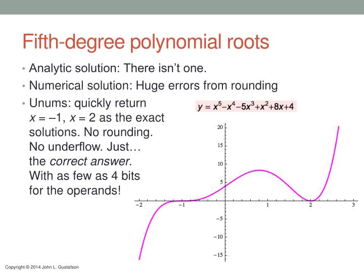 Fifth-degree polynomial roots