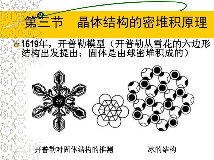 第三节  晶体结构的密堆积原理