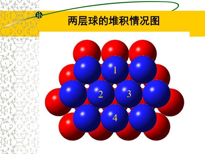 两层球的堆积情况图