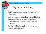 system financing