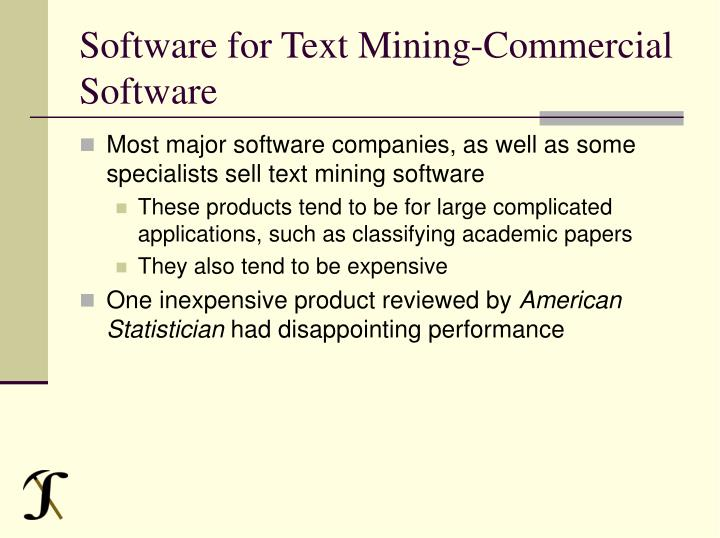 Software for Text Mining-Commercial Software