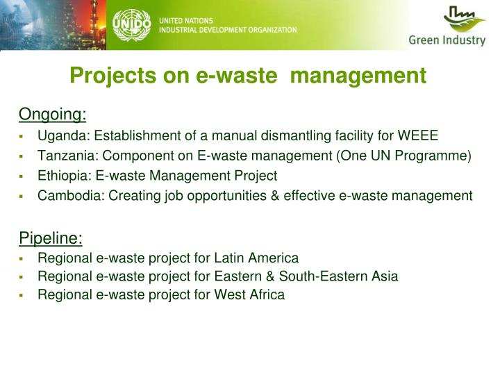 Projects on e-waste  management