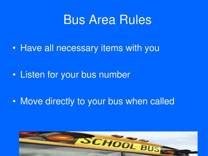 Bus Area Rules