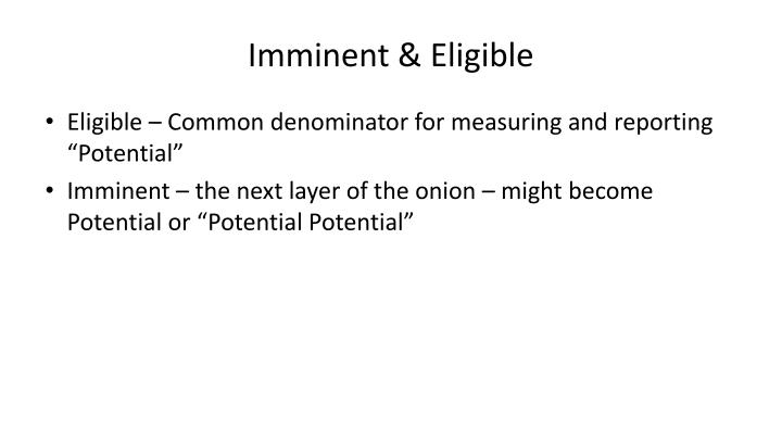 Imminent & Eligible