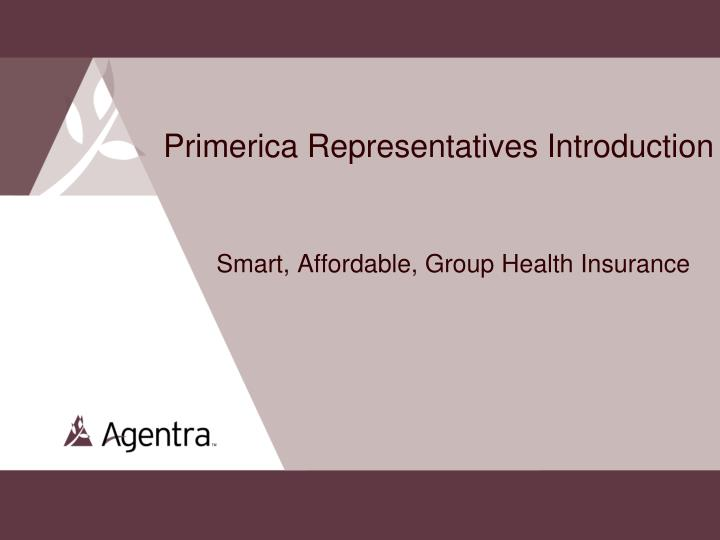 primerica representatives introduction smart affordable group health insurance n.