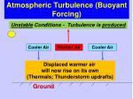 atmospheric turbulence buoyant forcing1