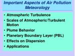 important aspects of air pollution meteorology