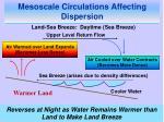 mesoscale circulations affecting dispersion