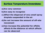 surface temperature inversions