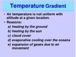 temperature gradient