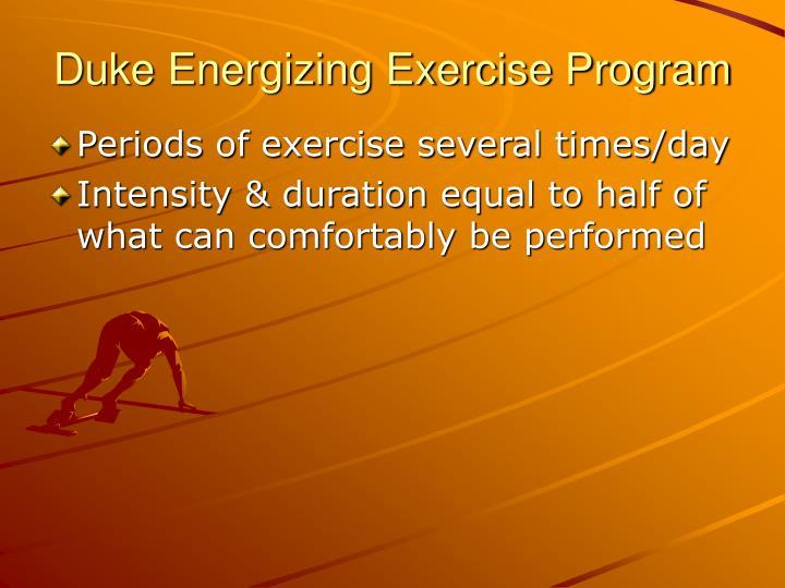 Duke Energizing Exercise Program