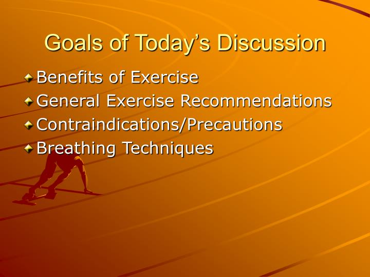 Goals of today s discussion