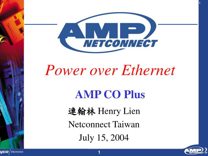 power over ethernet amp co plus n.