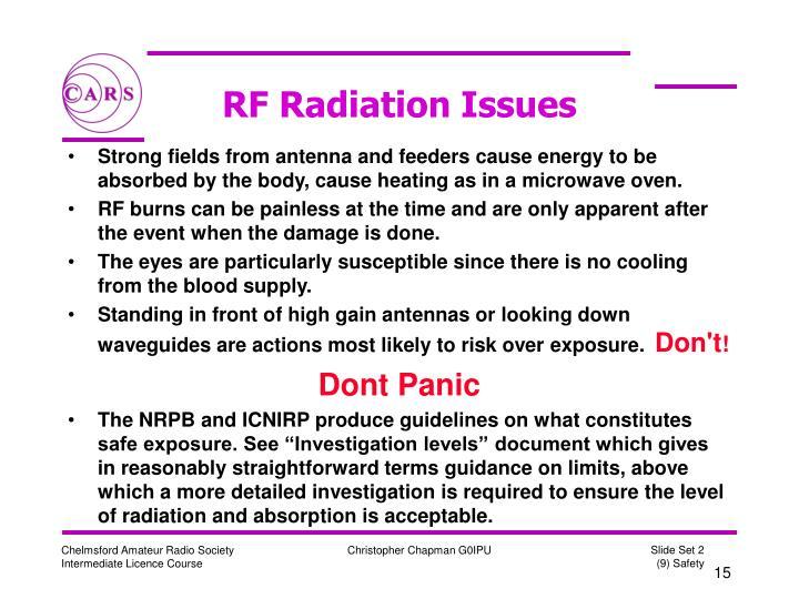 RF Radiation Issues