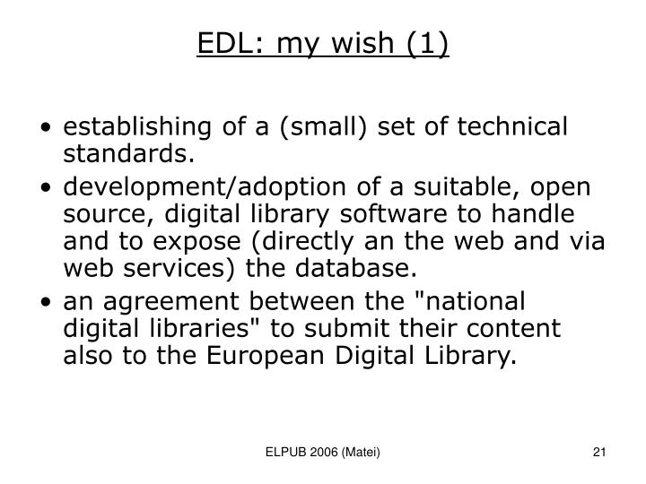 EDL: my wish (1)