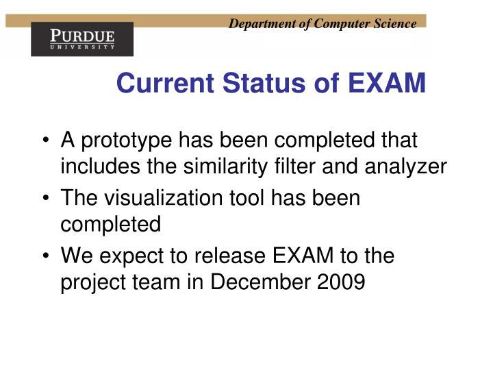 Current Status of EXAM