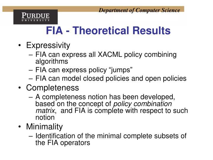FIA - Theoretical Results