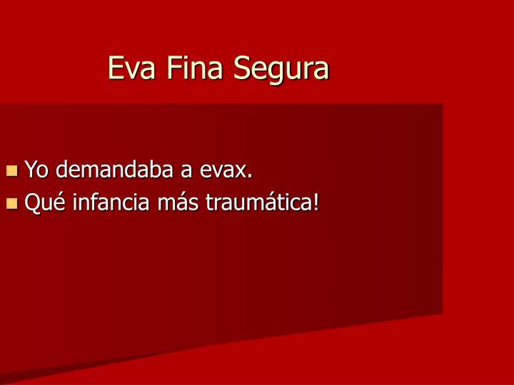 Eva Fina Segura