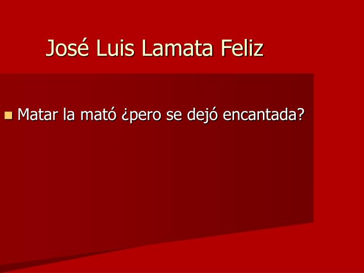 José Luis Lamata Feliz