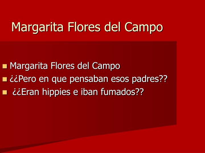 Margarita Flores del Campo