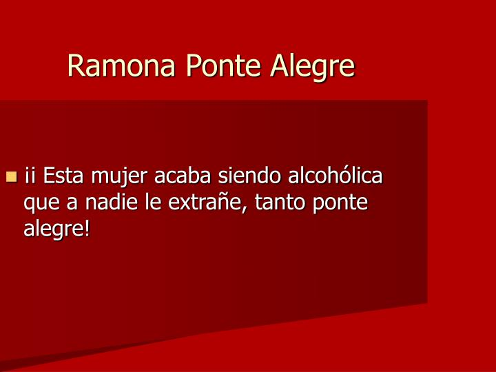 Ramona Ponte Alegre