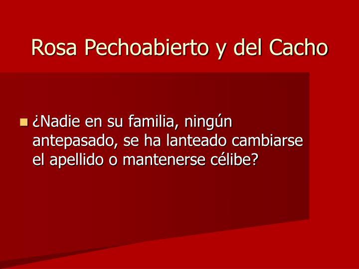 Rosa Pechoabierto y del Cacho