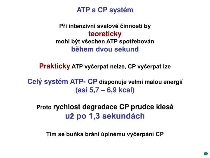 ATP a CP systém